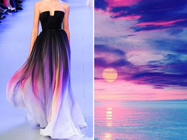 自然をモチーフにした美しいドレス集