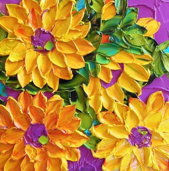 キャンバスから今にも飛び出してきそうな花