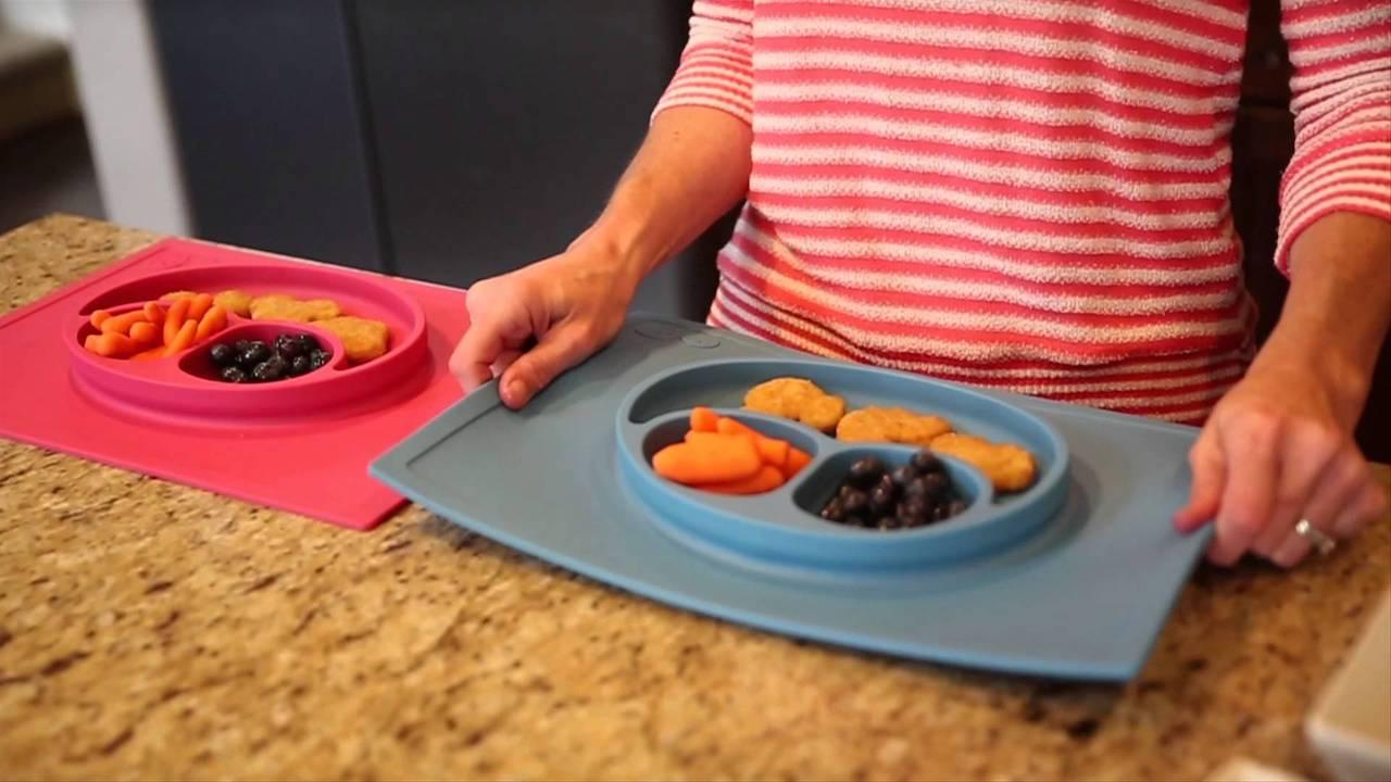 子どもが食器をひっくり返せなくなるアイテムezpz Happy Mat