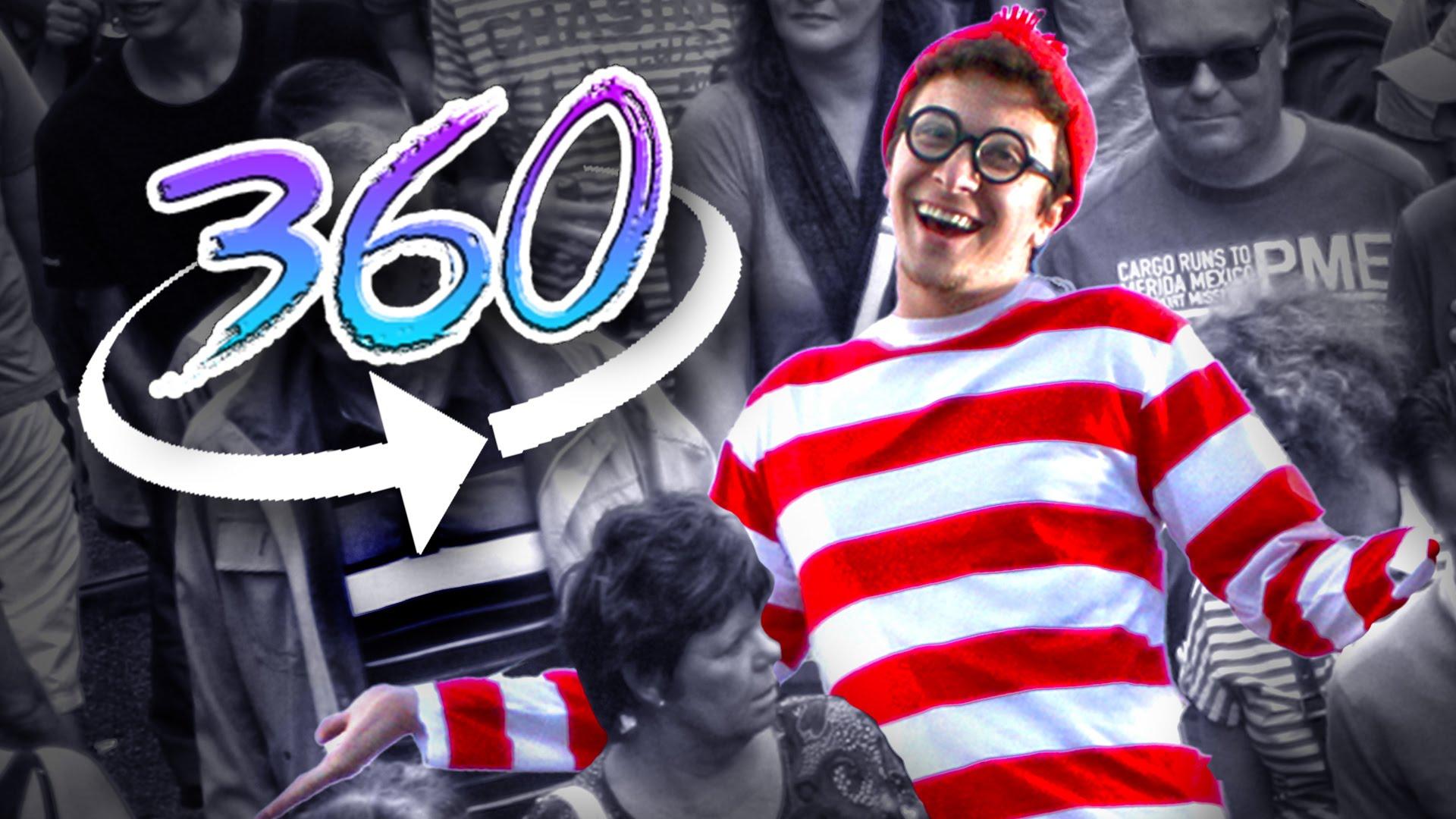"""360度周りを見渡してウォーリーを探す動画""""Where's Waldo 360"""""""